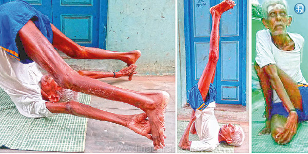 Today, at the age of 19 as International Yoga Day by mixing 109-year-old grandfather