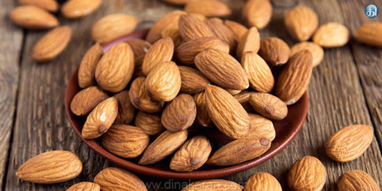 Almonds for skin