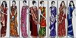 The variety of styles and wear saree