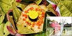 Lotus leaf and rice