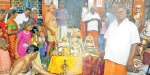 A special yagna to pray at the Mariamman temple in Jolarpet