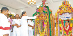 Near Kovilpatti cappara festival procession of St. Anthony's Church: Multitudes Participation