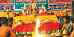 Special Yagam for the rains in Susanthiram Thanumalaya Swamy temple