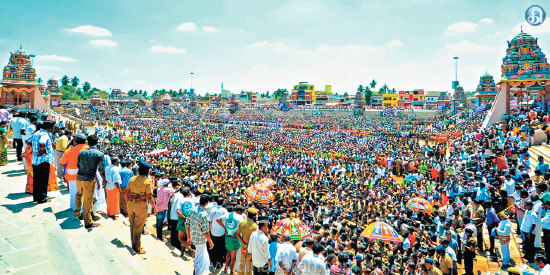 Thousands of people gathered at the Veerappur Festival