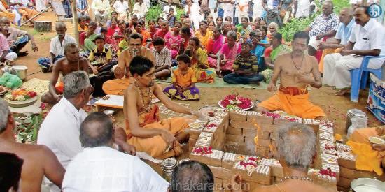 A special yoga in the temple is to be rained in the garland