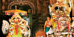 Chithirai festival: Amman, Swamy in the Golden Sabar