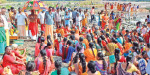 Thousands of pilgrims have been bathing in Mettur, Kalivadanga Cauvery