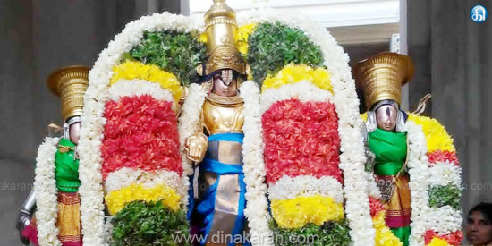 Lord Perumal is the one who gives wealth to the devotees