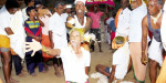 Worship of coconut on the head in the function of Veerapatran Swamy Temple