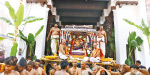 On the 3rd day of the shrine in Tiruchirapuri temple: Krishnar decorated the mother street