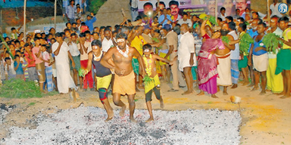The festival of fire at Tiruupatiyamman temple