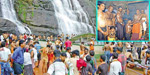 Born in Karthikai Ayyappa devotees took a holy dip in the evening wore on Courtallam
