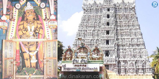 Anjaneya will be able to address diseases and planetary tissue in Susanthiram Thanumalai Swamy Temple