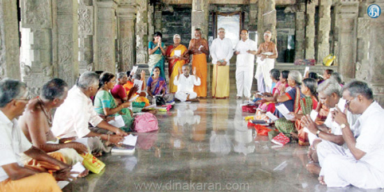 Tirupathi temple joint worship in the Pasupatheswarar temple for rain