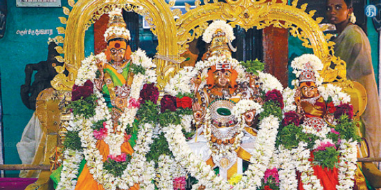 Product Returns silver in the temple worship of Velankanni