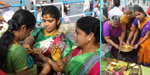 To pray for the welfare of her husband for aadi perukku worship