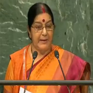 Nations of the world must act together to prevent terrorism: Sushma Swaraj at the request ainasabai