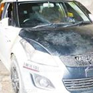 Petrol bombing on the car in Vellore: range up to the mysterious people