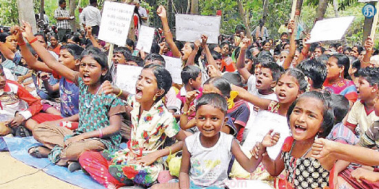 People from Kadiramangalam today have hunger strike: the police are urging to leave