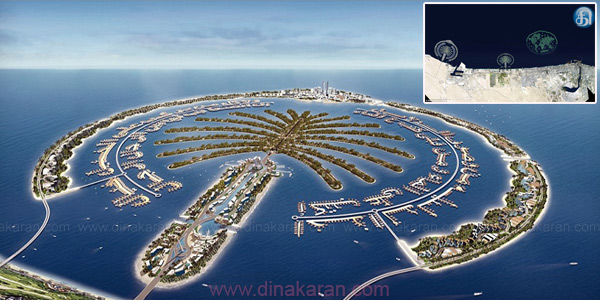 Two new islands built by humans at a cost of £ 1.3 billion in Dubai