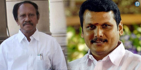 Senthil Balaji fasting to condemn his brother