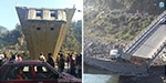 A bridge collapses in Himachal Pradesh