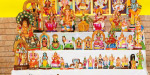 The Navarathri festival started in temples throughout the district