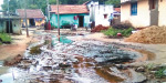 Rowing rain in the village of Navagupalli: danger of collapse of water in the houses