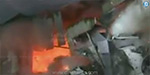 A fiery fire accident at a famous textiles store in Vijayawada