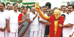 46th Anniversary opening ceremony AIADMK head office Edappadi and OBS were stabbed
