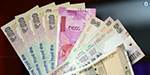 Indian rupee against the dollar rose 3 cents