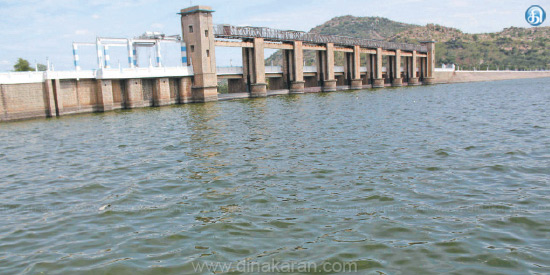 Flood water in Krishnagiri dam declined: flood threat to 26th day