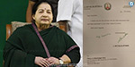Is the letter signed by Jayalalithaa to the Governor?