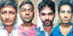 Four people were captured and looted in Chennai