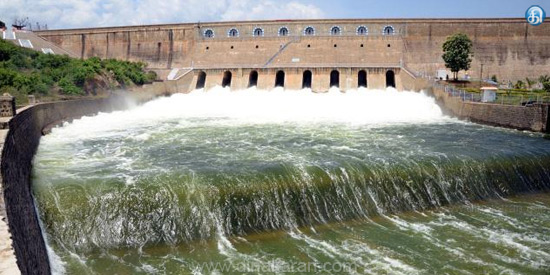 Due to the monsoon rains, the water level of the dams is rising