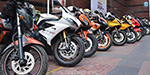 Bike sales India tops first