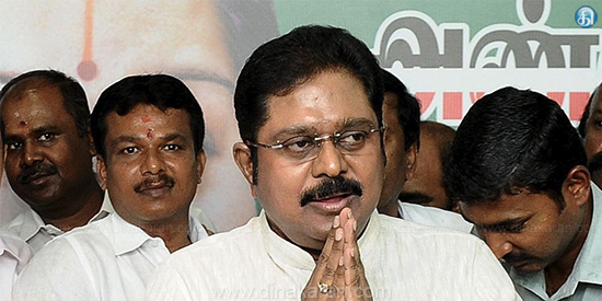 Secretary to AIADMK Chief Chief Minister Oommen Chandy's dismissal: DD V Dinakaran's announcement