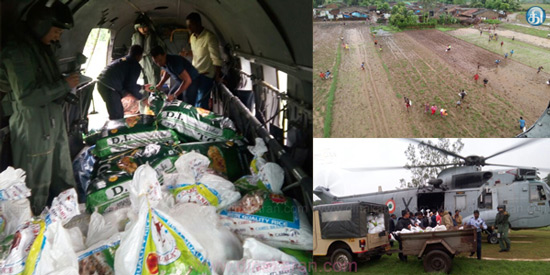 Heavy rain in Odisha: Food packets with helicopters for floodplains