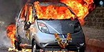 The consumer court judge was burnt by a car fire