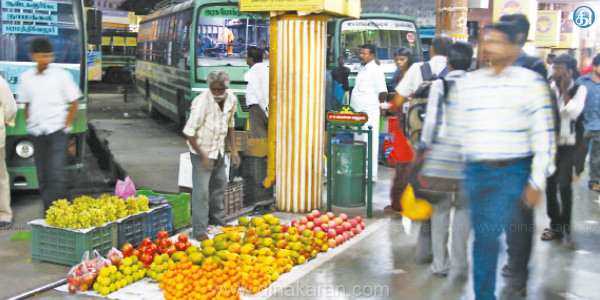 How many times to get rid of pavement walks: Salem New Bus Stand