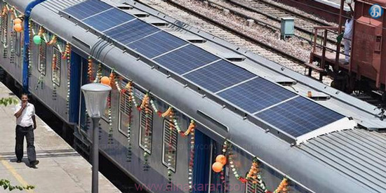 Trains via Solar Power: Indian Railways