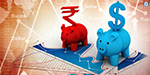 Indian rupee rose 15 points against the dollar