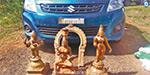 Seven of the five statues smuggled in the car from Jayankondam are seized: 5 serious inquiries