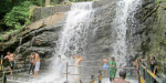 Increased water supply to Suri Falls by rainfall