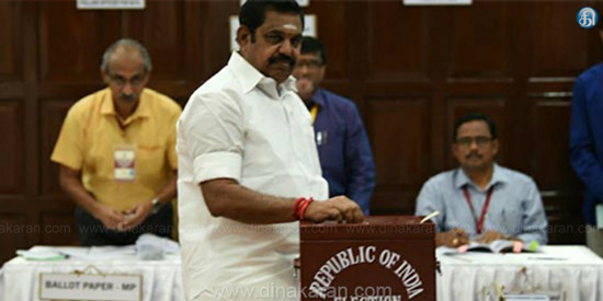 The vote for the presidential election was held in the Tamil Nadu Legislative Assembly