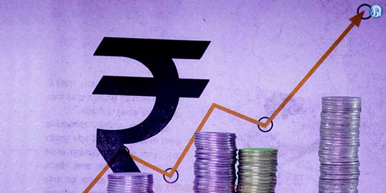 7 paise increase in the value of the Indian rupee against the dollar