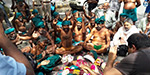 As farmer laying dead lament: farmers protest in New Delhi, the 13th day of a prolongation