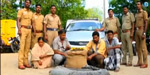 Ganja and Aliphatics kidnapping in car : Four arrested, including a woman