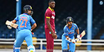 India won the match by 105 runs against West Indies