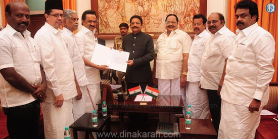 MLAs bargain issue: Governor orders the speaker to take action on Stalin's complaint